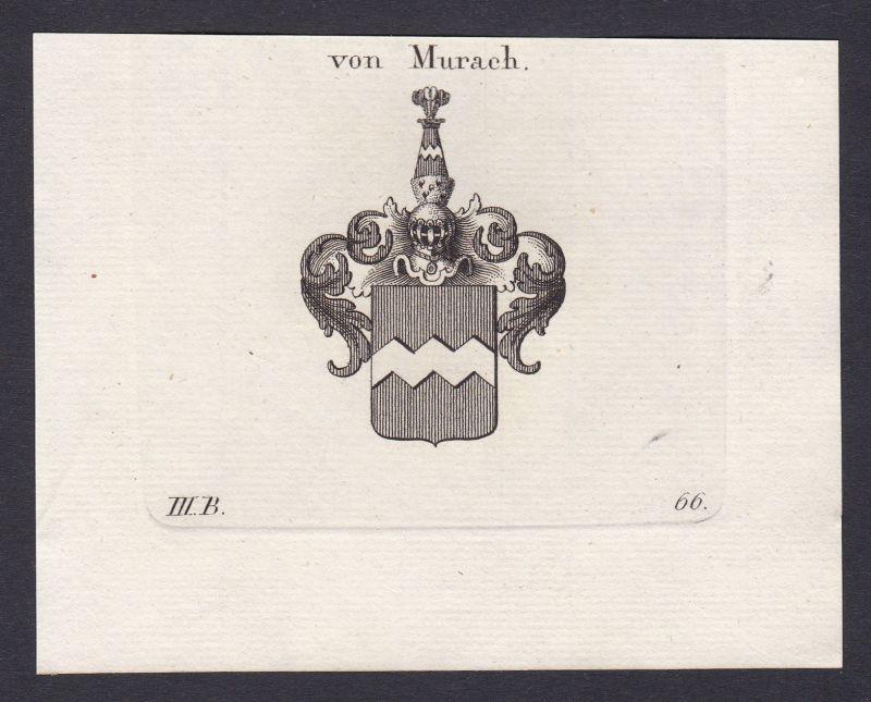 1820 Murach Oberpfalz Wappen Adel coat of arms heraldry Heraldik Kupferstich 0