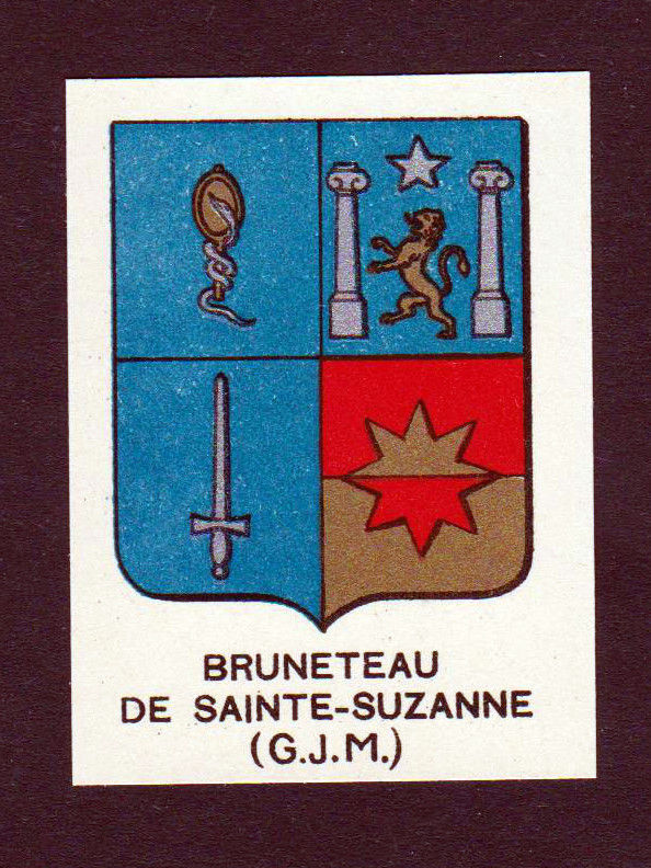 Ca. 1880 Bruneteau de Sainte-Suzanne Wappen Adel coat of arms heraldry an 146247 0