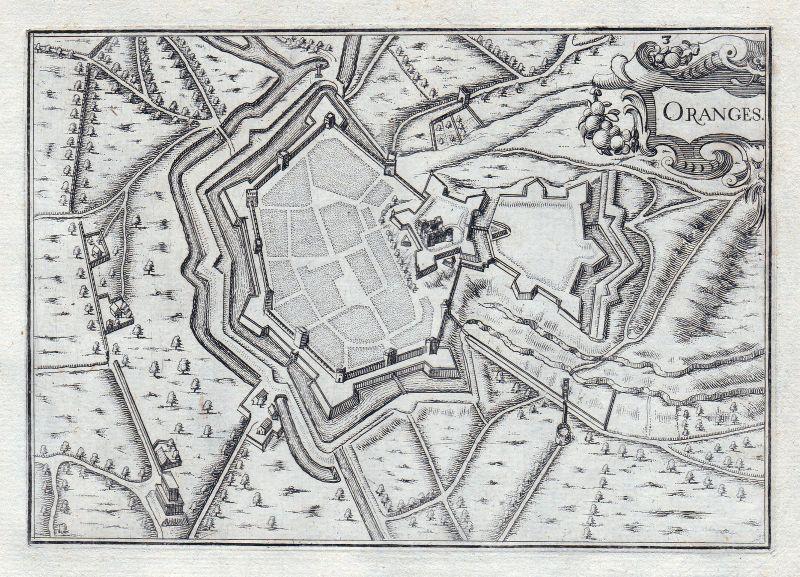 1630 Orange Provence-Alpes-Côte d'Azur Vaucluse France gravure estampe Tassin