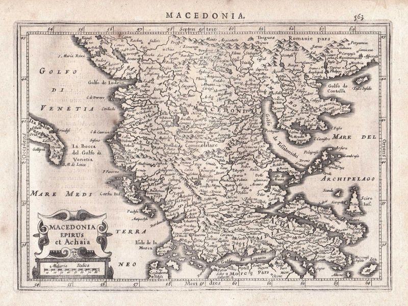 Greece Griechenland Achaia Achaea Mazedonien Macedonia map Karte Gerard Mercator