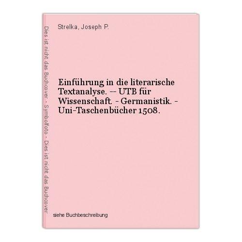 Einführung in die literarische Textanalyse. -- UTB für Wissenschaft. - Germanist