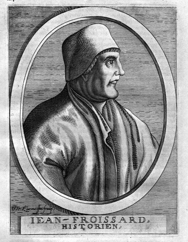 Ca. 1680 Jean Froissart historian Dichter poet Kupferstich Portrait engraving
