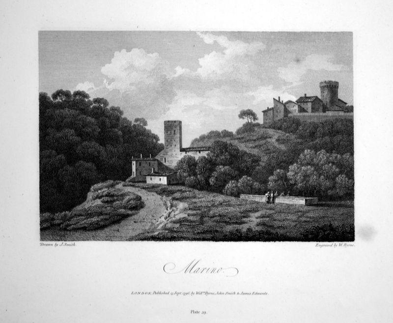 1796 San Marino veduta Italia acquaforte insicione Kupferstich engraving stampa
