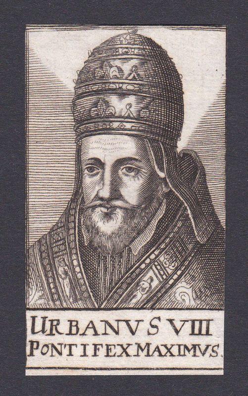 17. Jh. Urban VIII. / pope Papst Florenz Italien Italy Portrait Kupferstich