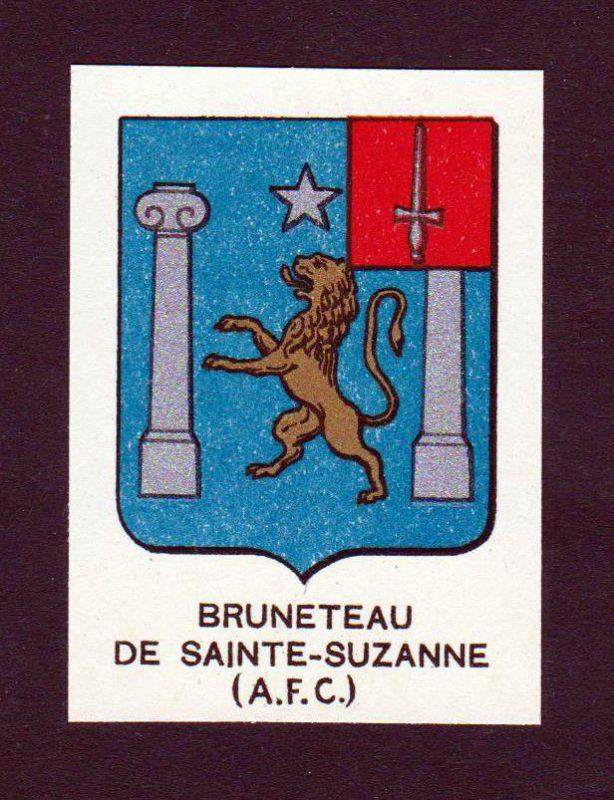 Ca. 1880 Bruneteau de Sainte-Suzanne Wappen Adel coat of arms heraldry antique
