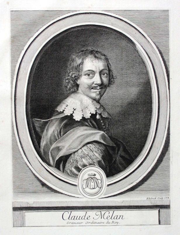 Claude Mellan graveur Kupferstecher peintre Zeichner Portrait gravure ca. 1700