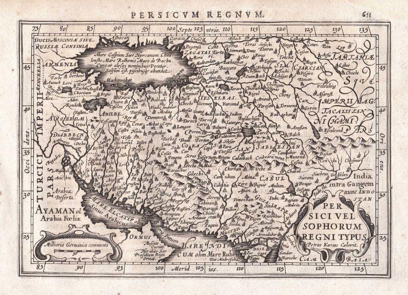 1628 Iran Armenien Armenia Asia Asien Tehran Teheran map Karte Gerard Mercator