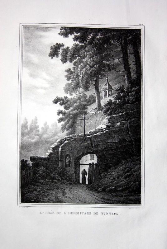 1825 Düdingen Nunneck Kapelle - Schweiz Suisse Lithographie Pingret.