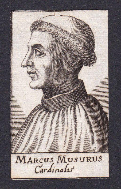 17. Jh. Marcus Musurus / humanist Humanist Retimo Kreta Portrait Kupferstich
