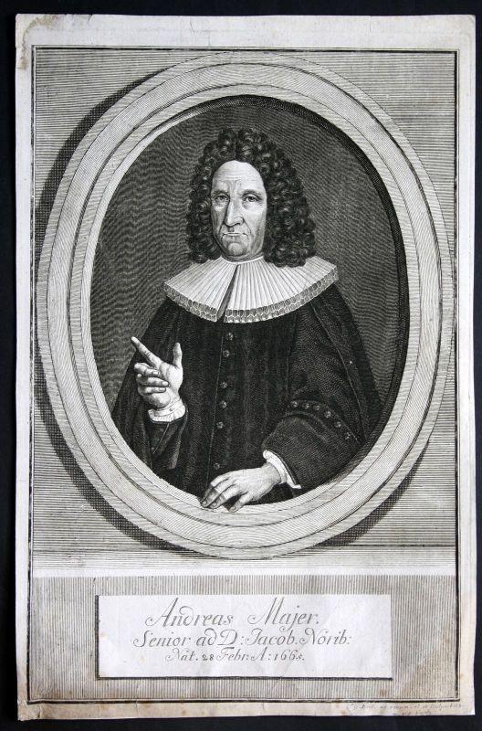 Ca. 1720 Andreas Majer Maier Nürnberg Potrait Kupferstich engraving