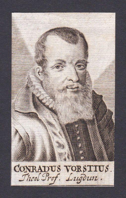 17. Jh. Konrad von der Vorst / theologian Theologe Leiden Portrait Kupferstich