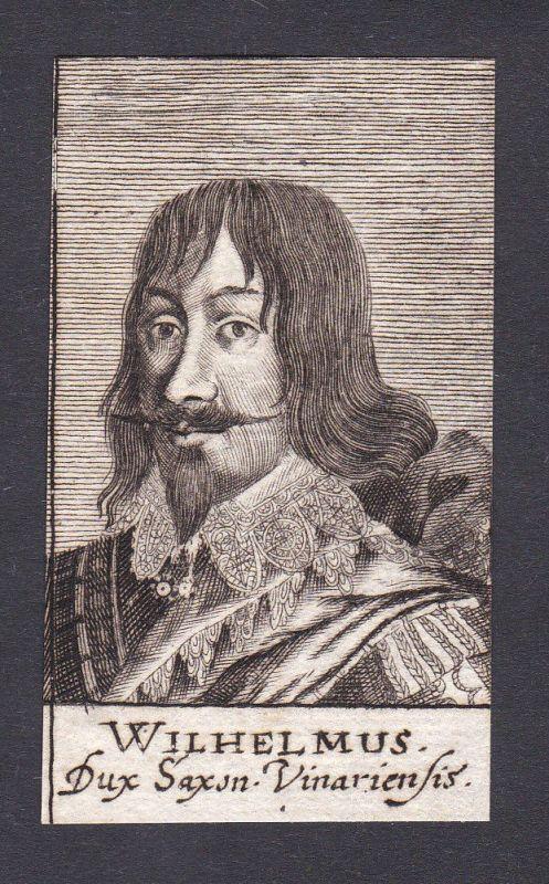 17. Jh. Wilhelm / duke Herzog Sachsen-Weimar Portrait Kupferstich