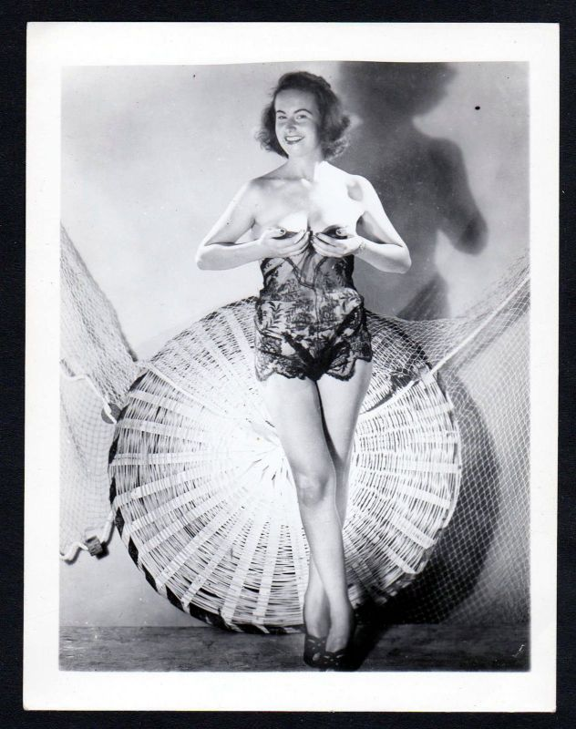 1960 Unterwäsche lingerie Erotik vintage Dessous pin up Foto photo Fischernetz