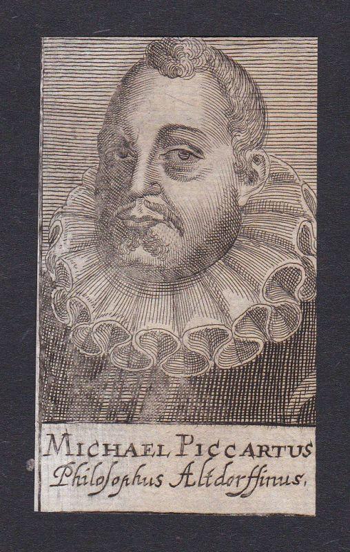 17. Jh. Michael Piccartus / professor Professor Altdorf Portrait Kupferstich