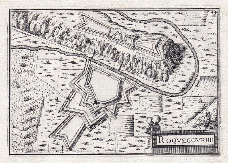 1630 Roquecourbe Tarn France gravure estampe Kupferstich Tassin