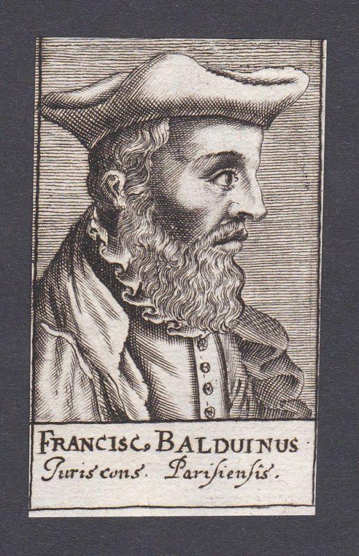17. Jh. - Fracois Baudouin / jurist Jurist Theologe Paris Portrait Kupferstich