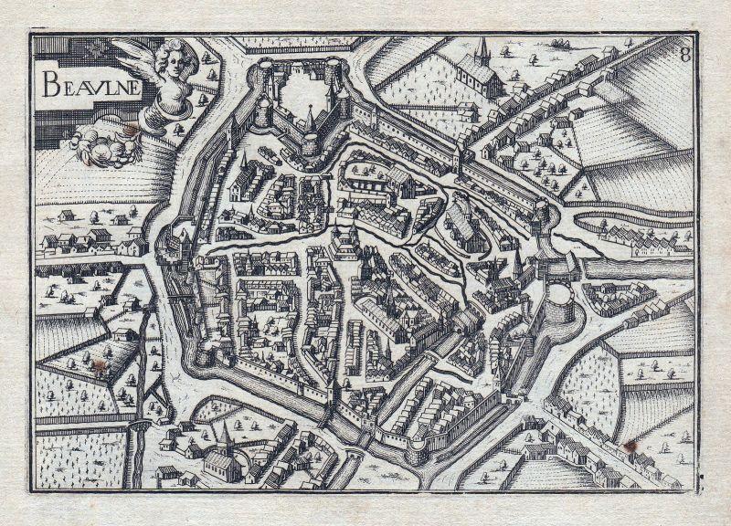 1630 Beaune vue Tassin Frankreich France gravure estampe Kupferstich Tassin