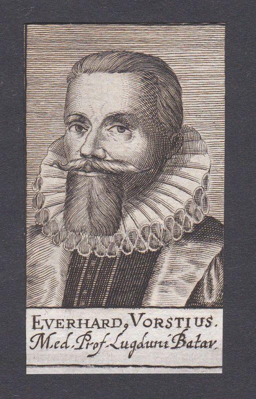 17. Jh. - Aelius Everhardus Vorstius / physician Leiden Portrait Kupferstich