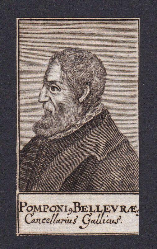 17. Jh. - Pompone de Bellieure / consultant Umbria Portrait Kupferstich