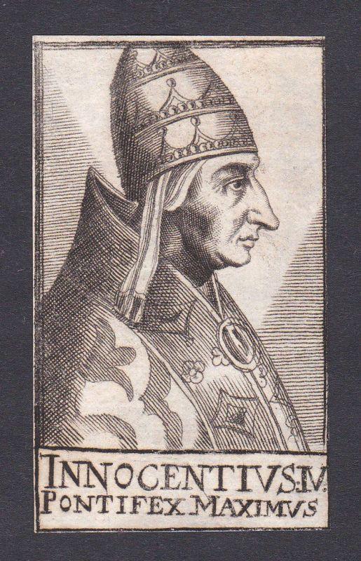 17. Jh. Innozenz IV. / pope Papst Genua Italien Italy Portrait Kupferstich