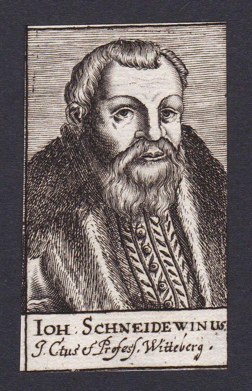 17. Jh. - Johann Schneidewein / jurist Jurist Wittenberg Portrait Kupferstich