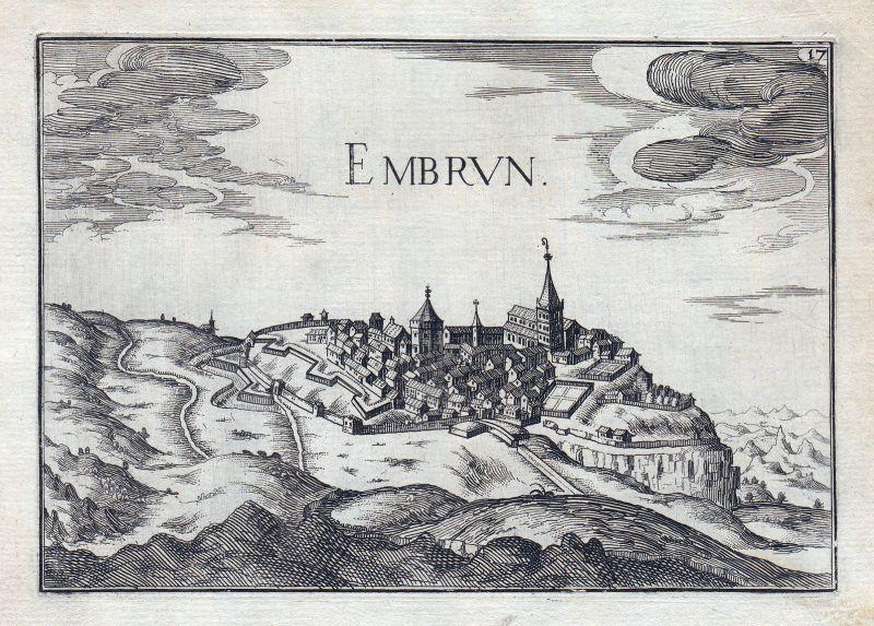 Embrun Provence-Alpes-Côte d'Azur Hautes-Alpes France gravure estampe Tas 146333