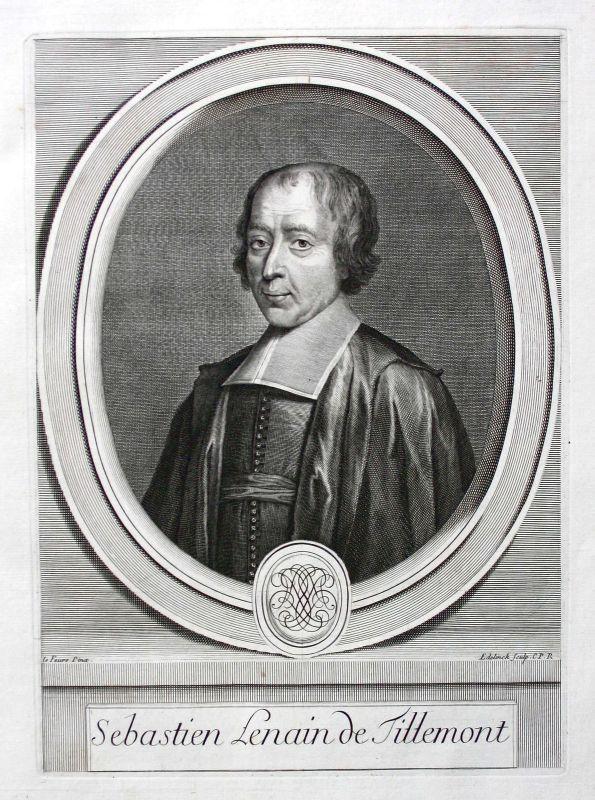 Louis Sebastien Le Nain de Tillemont historien Historiker Portrait ca. 1700