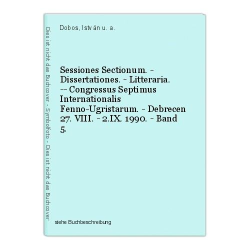 Sessiones Sectionum. - Dissertationes. - Litteraria. -- Congressus Septimus Inte
