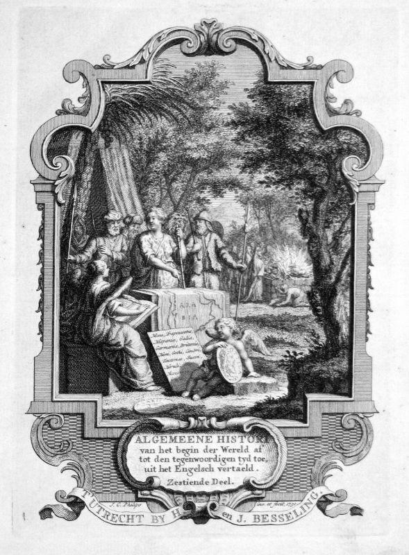 1750 Titelblatt Titel title page Saudi Arabien Arabia Kupferstich antique print