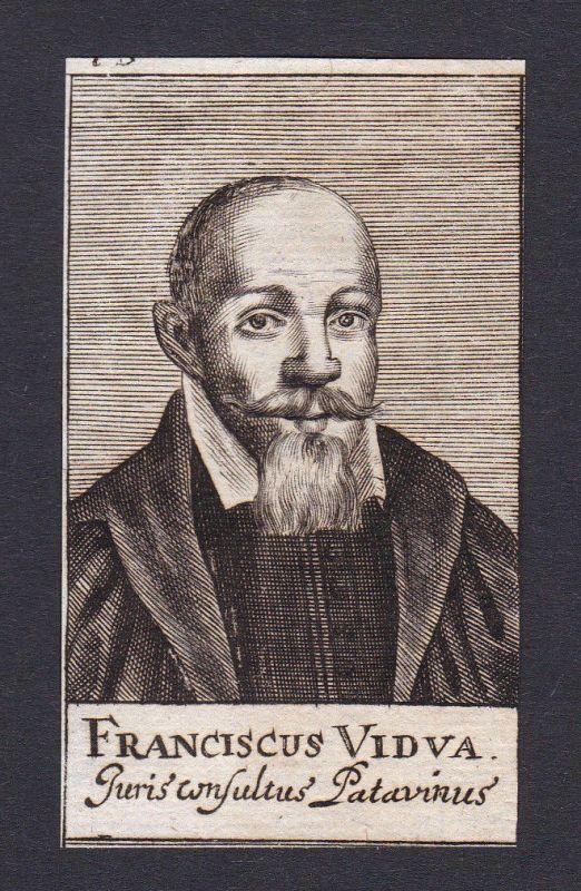 17. Jh. - Francesco Vidua / jurist Jurist Padova Portrait Kupferstich
