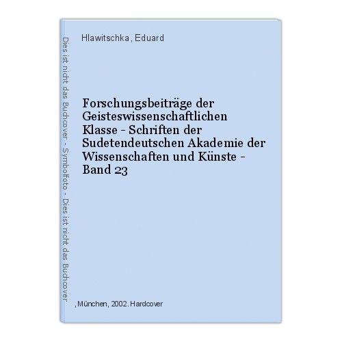 Forschungsbeiträge der Geisteswissenschaftlichen Klasse - Schriften der Sudetend