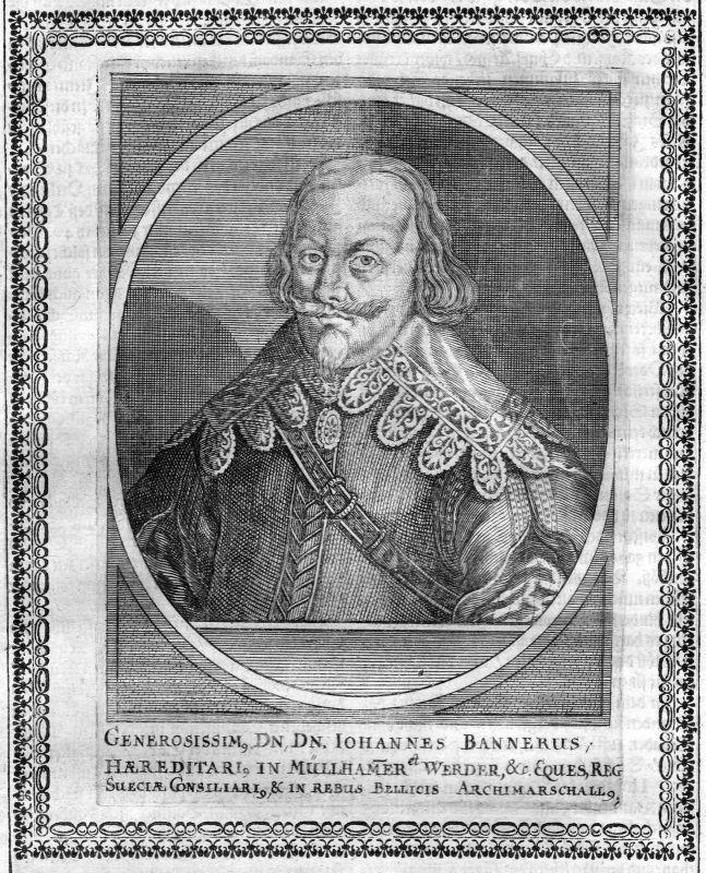 Ca. 1665 Jan Banner Johannes Werder Portrait Kupferstich antique print