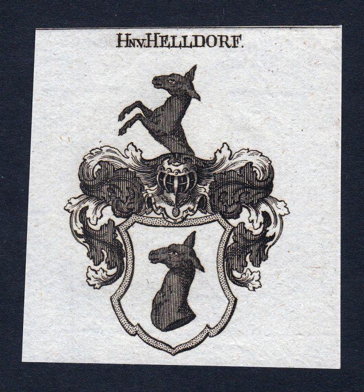 1820 Helldorf Meißen Helldorff Wappen Adel coat of arms Kupferstich engraving
