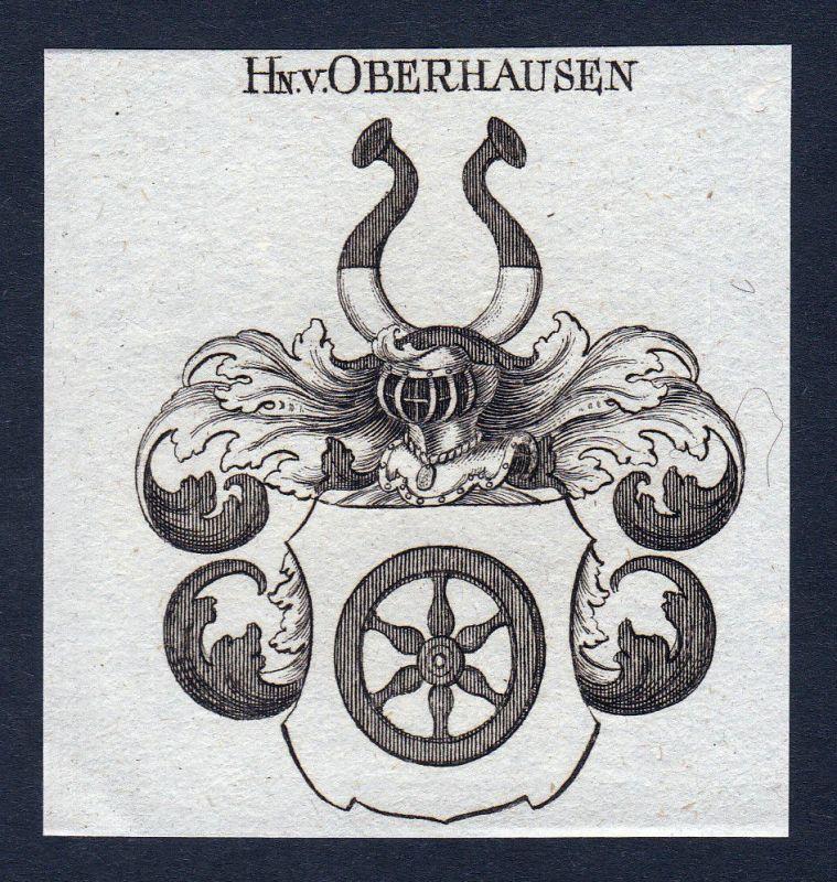 Oberhausen Nordrhein-Westfalen Wappen Adel coat of arms Kupferstich engraving