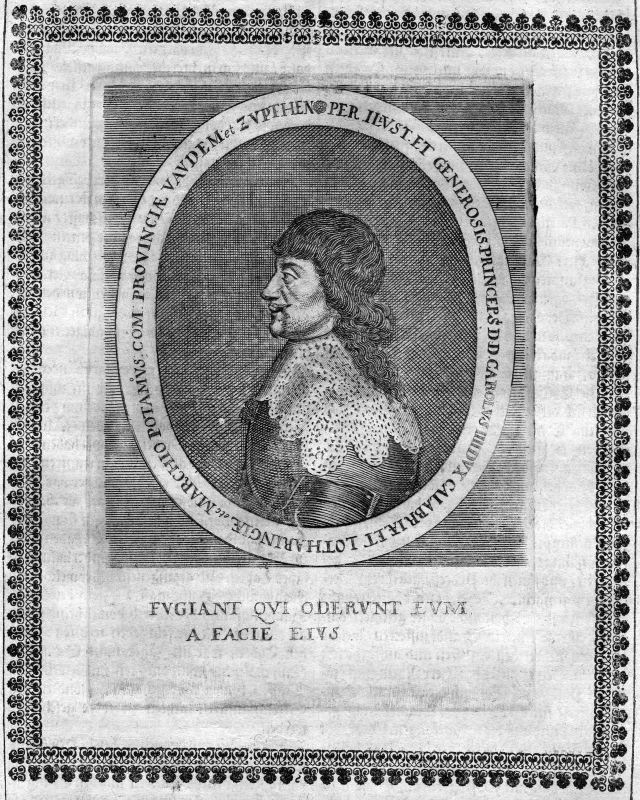 1665 Karl IV Lothringen Kalabrien Lorraine Portrait Kupferstich antique print