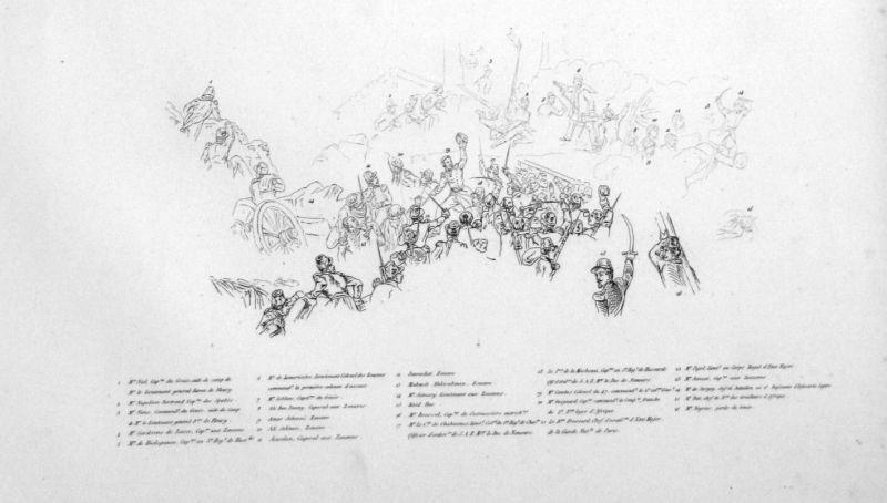 Ca. 1840 Siege Constantine Algeria Ansicht vue estampe Stahlstich antique 146845 1