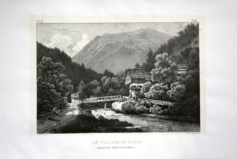 1824 Roches Jura Birs Kanton Bern - Schweiz Suisse Lithographie Villeneuve.