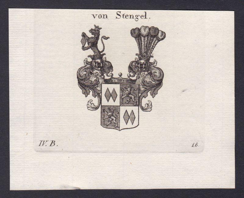 1820 Stengel Bayern Wappen Adel coat of arms heraldry Heraldik Kupferstich