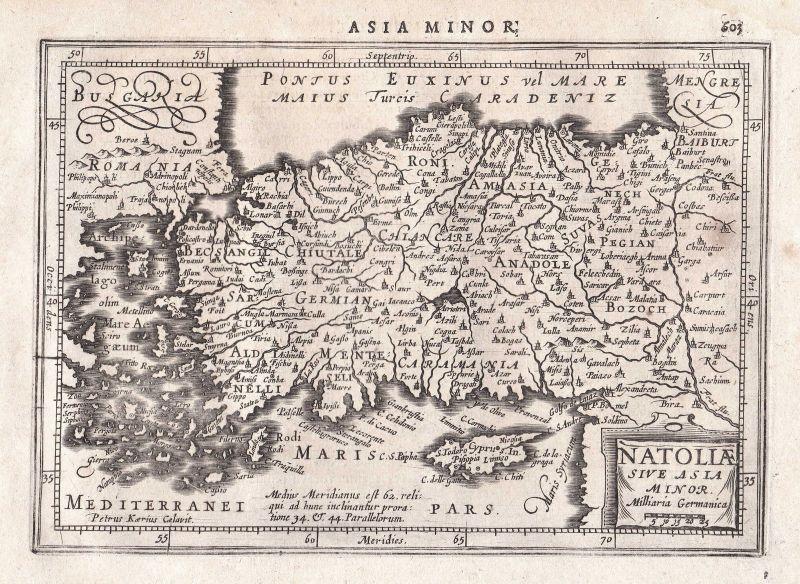 1628 Turkey Türkei Asia Asien Zypern Cyprus Antalya map Karte Gerard Mercator