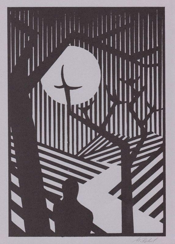 1994 Martin Rehnert Linolschnitt zu einer der