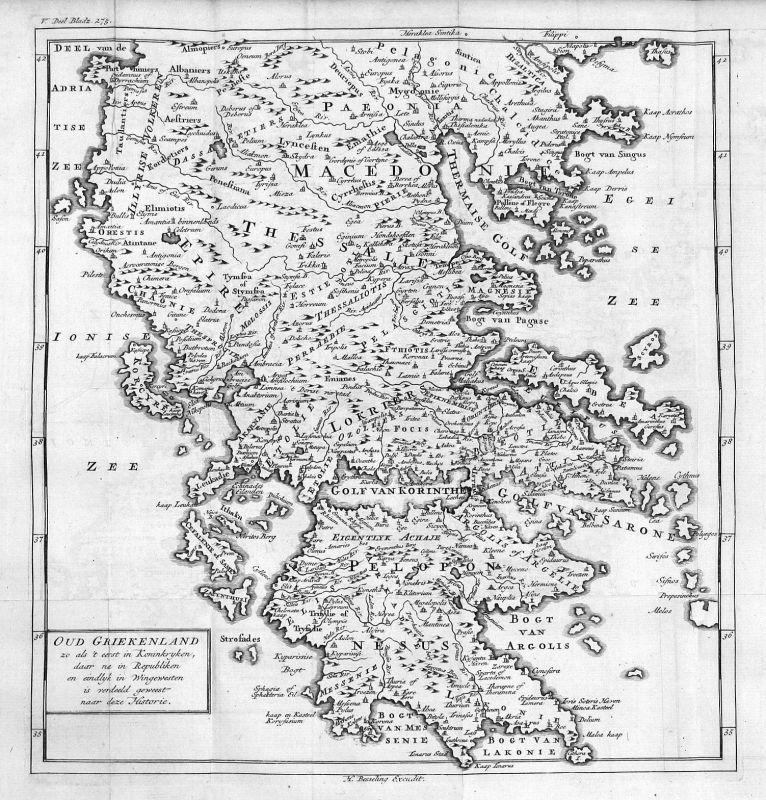 Griechenland Peloponnes Karte Deutsch.18 Jh Greece Griechenland Peloponnes Peloponnese Karte Map Antique Print
