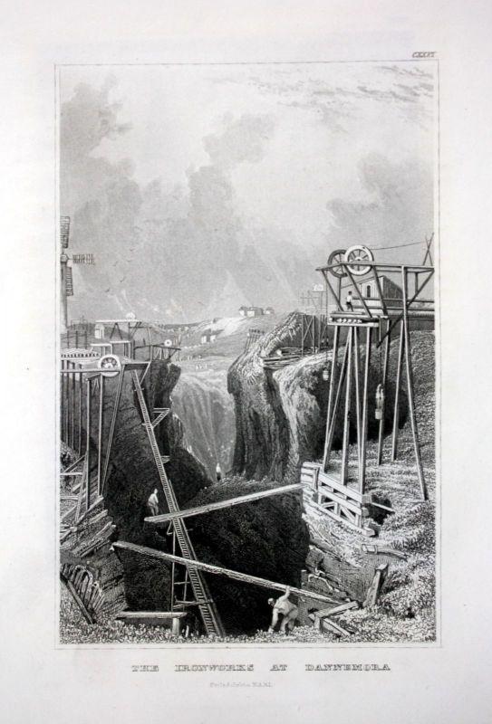 Ironwork Dannemora New York Amerika America Ansicht Stahlstich antique print