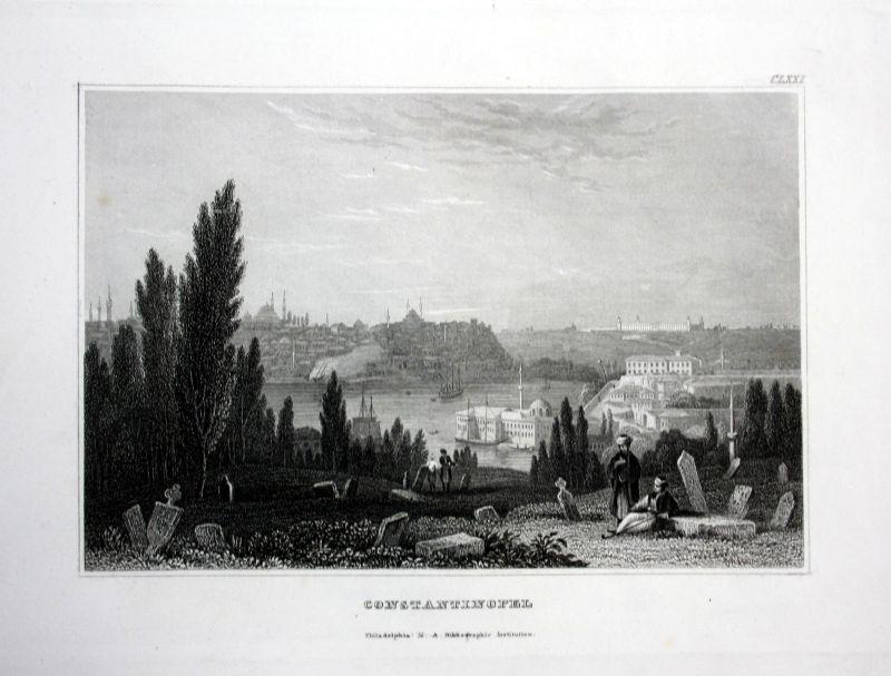 Konstantinopel Istanbul Türkei Türkiye Ansicht Stahlstich antique print view