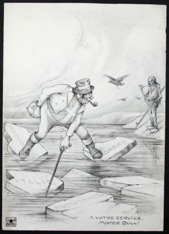Eugen von Baumgarten München Zeichnung Weltkrieg world war Totentanz Propaganda