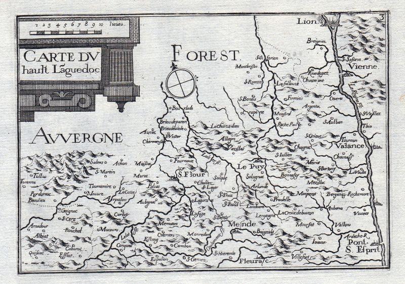 1630 Languedoc Pyrénées-Orientales Okzitanien France gravure estampe Tass 146383