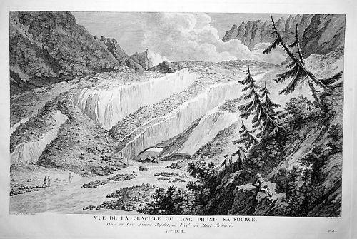 1786 - Aaregletscher Aargletscher Aar Gletscher Kupfer