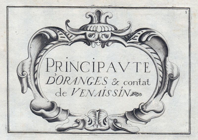 1630 Avignon Provence titel Ornament France gravure estampe Kupferstich Tassin