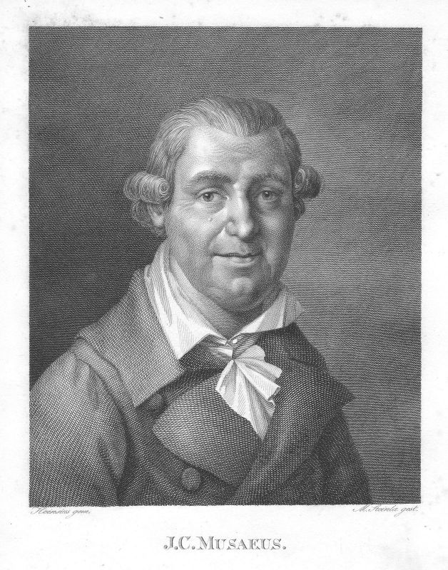 Johann Karl August Musäus Schriftsteller Jena Weimar Portrait Steinla Heinsius