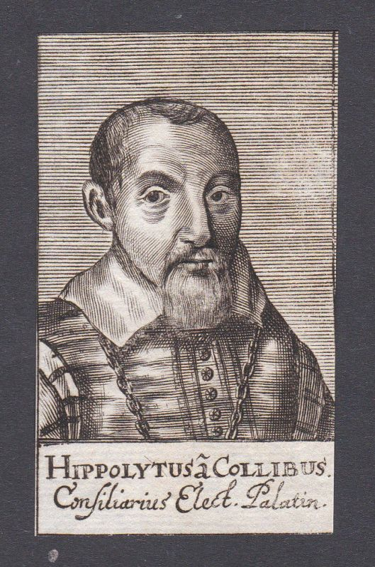 17. Jh. - Hippolyt von Colli jurist Jurist Heidelberg Pfalz Portrait Kupferstich