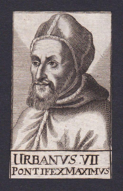 17. Jh. Urban VII. / pope Papst Rom Italien Italy Portrait Kupferstich